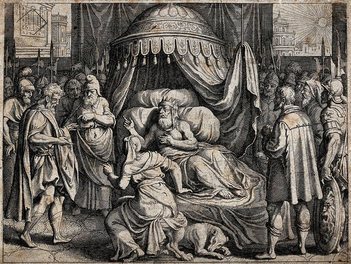 Hezekiah_lies_ailing_in_bed,_surrounded_by_anxious_soldiers