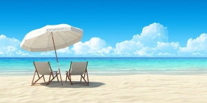 Beach-chair-and-umbrella-300x150